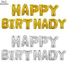 aliexpress com buy homdox 1 set 13 letters happy birthday