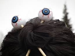 hair sticks don t eat the paste eyeball hair sticks