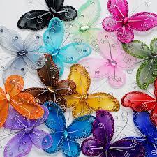 ifavor123 com 3 inch sheer nylon wire butterfly w