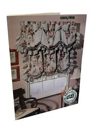 vintage window treatments sewing pattern shirred cloud valance