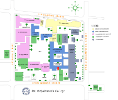 Metro Manila Map by Campus Map St Scholastica U0027s College