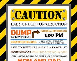construction baby shower construction baby shower invitations cimvitation