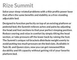 Mantua Adjustable Bed Mantua Rize Summit Adjustable Base Vermont Bedrooms Rutland Vermont