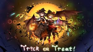 vocaloid halloween monster party night touhou halloween remilia scarlet flandre scarlet the scarlet