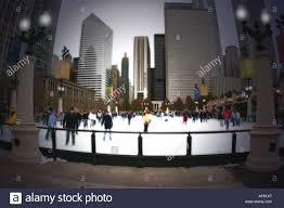 winter outdoor ice rink near millenium park chicago illinois p