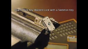 A Key To The Armoire 40 How To Open Any Warded Lock With A Skeleton Key Youtube