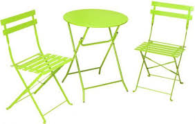 Patio Furniture Dimensions Cosco 87620grn1 3 Piece Folding Bistro Style Patio Table And