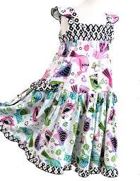 modern bird tiered cotton dress girls easter dress 2014 spring