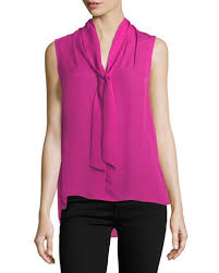 sleeveless tie neck blouse silk tie neck blouse neiman