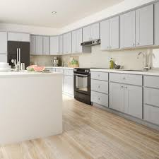 princeton shaker assembled 30x36x12 in wall cabinet in warm gray