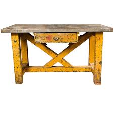 vintage american zinc top factory work table c 1920 40 at 1stdibs