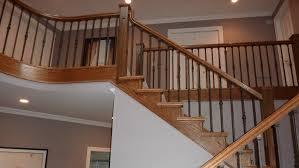 Wood Banister Stair Railings By Ellerman Woodworking