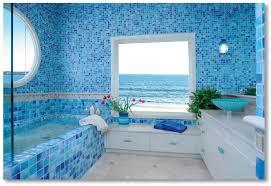 Cornflower Blue Bathroom by Marine Style Interior Design