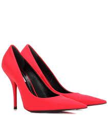 balenciaga escarpins en satin rouge femme p00247329 u20ac111 18