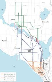 Seattle Rail Map by Sound Transit Rolls Out Eight Downtown To Ballard Rail Options