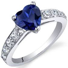 silver sapphire rings images Blue sapphire ring sterling silver heart shape sr9824 peora jpg