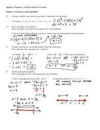 printables algebra 1 review worksheet ronleyba worksheets printables