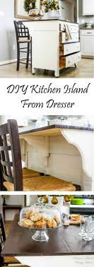 dresser kitchen island 15 easy diy kitchen islands that you can build on a budget
