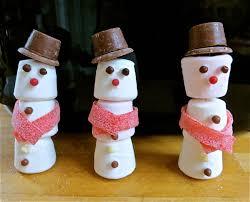 snowman marshmallows oakwood marshmallow snowmen and strawberry santas