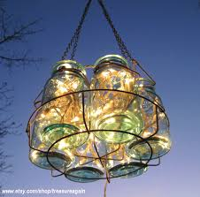 Mason Jar Lights Outdoor by Antique Candle Chandelier Lights Mason Jar Blue Quart Ball Canning