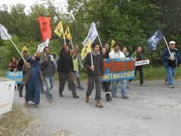 areva siege social marche antinucléaire 8ème jour le centre nucléaire de marcoule