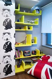 Star Wars Bedroom Theme Interior Wonderful Shelf Design To Split Two Rooms With Artistic