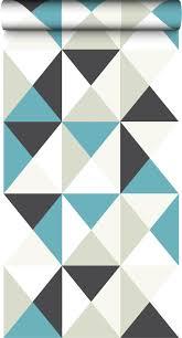 escalier peint 2 couleurs on adore les petits triangles et l u0027association de ces couleurs
