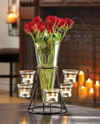 Cheap Glass Flower Vases Amazon Com Black Metal Frame Tapered Glass Flower Vase Candle