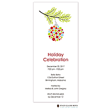 ornament gift exchange invitations 2017