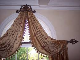 Curtains For Palladian Windows Decor Uncategorized Curved Window Treatments With Glorious Scroll
