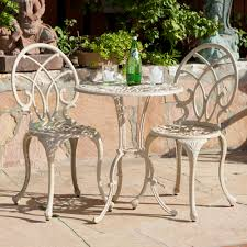 White Cast Iron Patio Furniture Christmas Wrought Iron French Courting Chair Garden Furniture