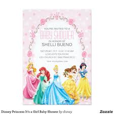Baby Shower Card Invitations Disney Princess It U0027s A Baby Shower 5