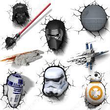 star wars 3d wall lights with crack sticker darth vader yoda item specifics