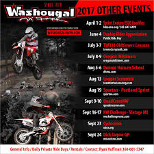 pro motocross schedule schedule and other events u2013 washougal motocross