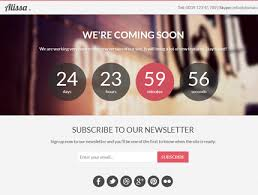 free template alissa responsive bootstrap coming soon page azmind