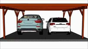 flat roof carport plans youtube