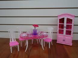 amazon com barbie size dollhouse furniture dinning room with 4