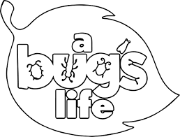a bugs life logo leaf coloring page wecoloringpage