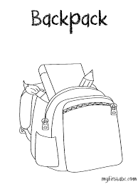 backpack coloring pages getcoloringpages