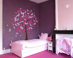 Purple Nursery Wall Decor Bedroom Wall Decor Butterfly Tree Nursery Wall Decal Wall