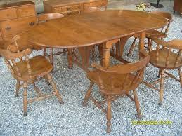 Santa Clarita Ethan Allen Baumritter Maple Double Drop Leaf Dining - Ethan allen maple dining room table