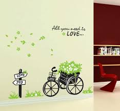 flowers butterfly big wall stickers child love bathroom bedroom