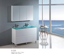 Glass Bathroom Vanity Tops by Bathroom Marvellous Bathroom Decoration With White Wood Double