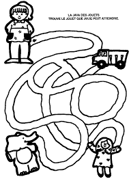 dessins à colorier labyrinthe coloriages pour enfants