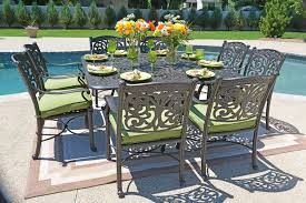 6 Seat Patio Dining Set Modern Style Luxury Person All Welded Cast Aluminum Patio