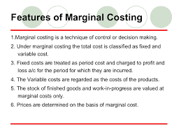 marginal costs understanding marginal costing