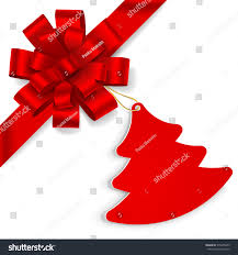red bow christmas tree on white stock vector 315056459 shutterstock