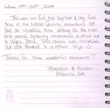 anniversary guest book nc smoky mountain vacation cabin rentals guest comments cabin