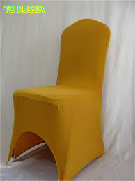 Yellow Chair Covers Popular Yellow Spandex Chair Covers Buy Cheap Yellow Spandex Chair