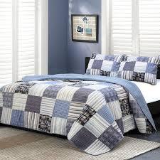 Patchwork Duvet Sets Cozy Line Home Fashion Daniel Striped Patchwork Quilt Set